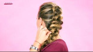 Объемная коса из хвостиков