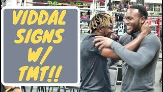 Viddal Riley signs with Mayweather Promotions....KSI loses his mind!