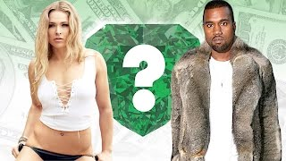 WHO'S RICHER? - Ronda Rousey or Kanye West? - Net Worth Revealed!