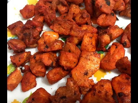 Grilled Chicken In Microwave Oven | Grilling Juicy Boneless Chicken Chunks In Microwave