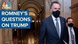 Sen. Mitt Romney asks about former President Donald Trump's <b>Mike</b> ...