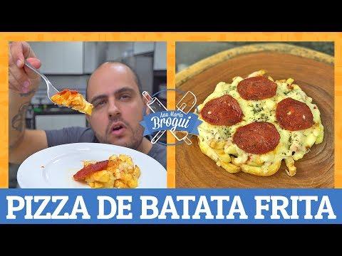 COMO FAZER PIZZA DE BATATA FRITA | Ana Maria Brogui #495