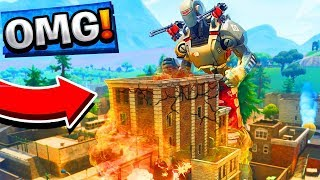 SAISON 7 FUITE! TILTED TOWERS BEING DESTROYED in Fortnite Battle Royale!