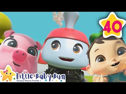 Animals Train Song   How To Nursery Rhymes   Fun Learning with LittleBabyBum