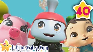 Animals Train Song | How To Nursery Rhymes | Fun Learning with LittleBabyBum