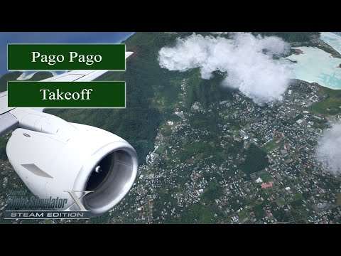 FSX Steam Edition 2016 Movie Full HD - Takeoff Pago Pago - American Samoa