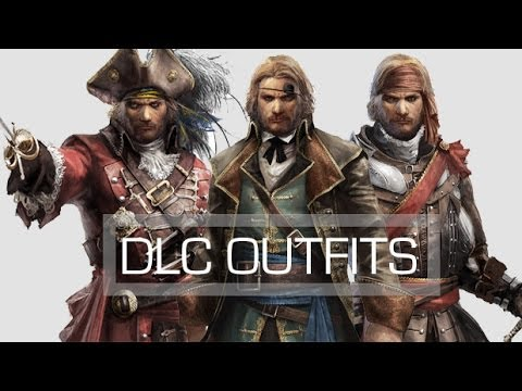 Assassins Creed 4 Black Flag All 3 Dlc Outfits Youtube