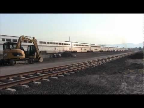 Amtrak Train Leaves Whitefish, Montana, USA