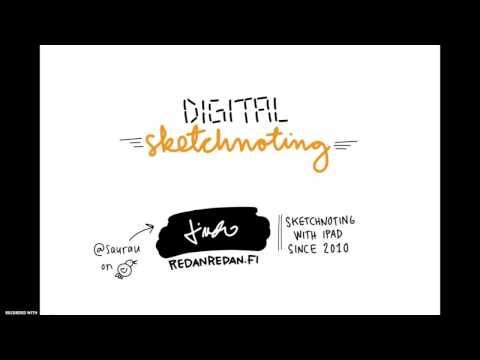 Digital Sketchnoting with an iPad