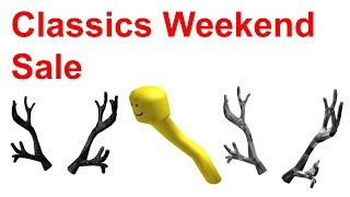 Roblox Classics Weekend Sale