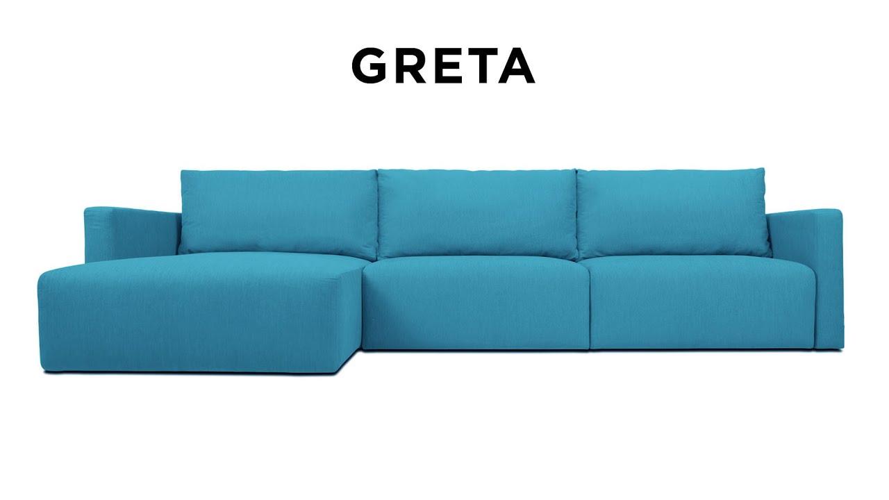 Стильный угловой диван Greta от Pufetto - YouTube