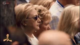 מבט- הילרי קלינטון חשה ברע במהלך טקס הזכרון לפיגועי התאומים בניו יורק.
