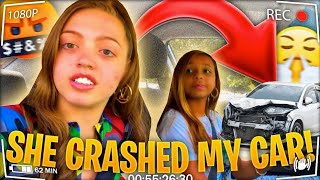 MY SISTER (QUEEN KHAMYRA) CRASHED MY CAR!!!! 😩🤦‍♀️ **  I KICKED HER OUT**| Woah Vicky