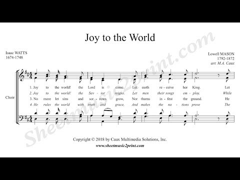 Joy to the World - Choir SATB