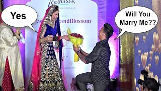 Prince Narula Proposes Yuvika Chaudhary For Marriage In Front Of Media On Ramp