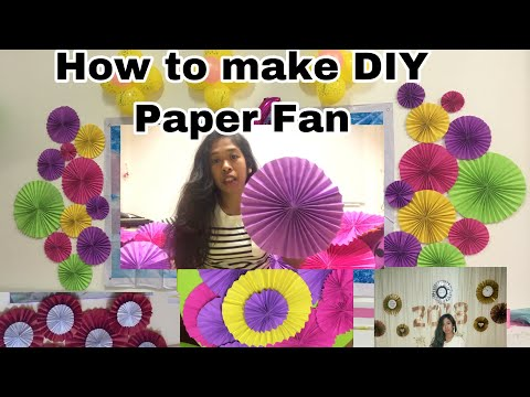 How to make DIY Paper fan (easy way)
