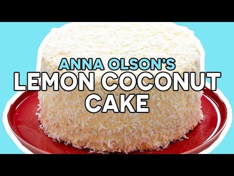 The Most Luscious Lemon Coconut Cake!