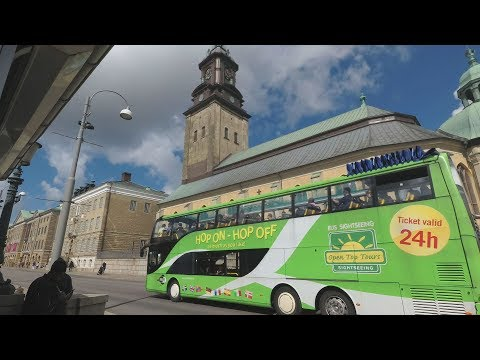 Hop On Hop Off by bus - Gothenburg 2017 - complete tour