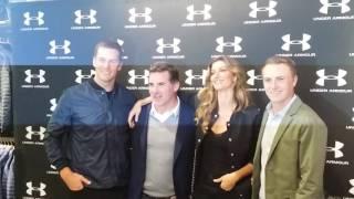 Tom Brady, Kevin Plank, Gisele Bündchen, & Jordan Spieth At Under Armour Boston
