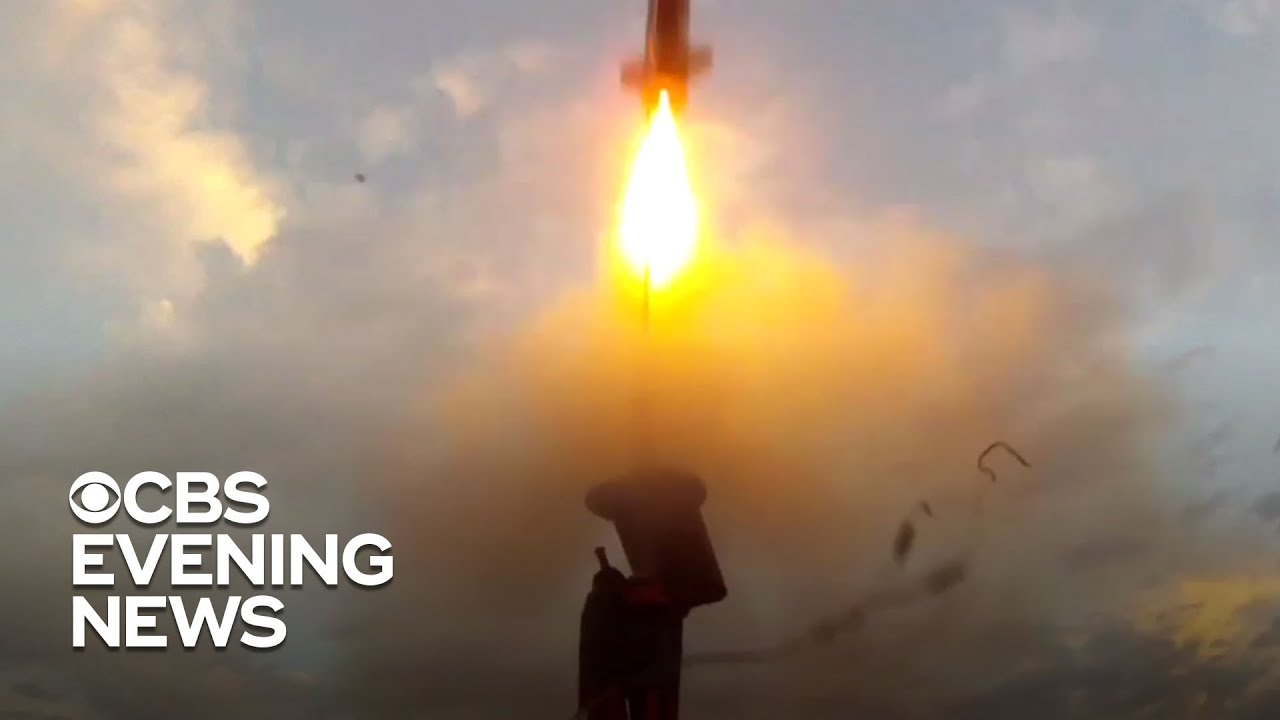 SpaceX rocket launch signals hope for the future during difficult times - CBS Evening News
