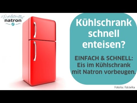 Bosch Kühlschrank Abtauen : Vereisten kühlschrank mit natron vorbeugen youtube
