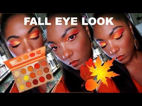 De'Lanci Eye Catching Chili Palette - Orange Fall Eye Look & Swatches thumbnail