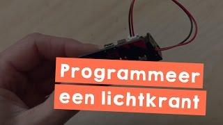 Programmeer een lichtkrant met de MicroBit