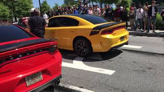 2 Charger Daytona's do burnouts FIGHT and cars IMPOUNDED