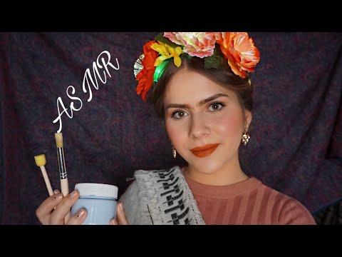 ASMR Frida Kahlo paints your face Roleplay (german/deutsch)