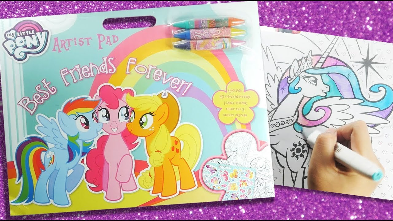 - MLP Activity Book My Little Pony Coloring For Kids Artist Pad