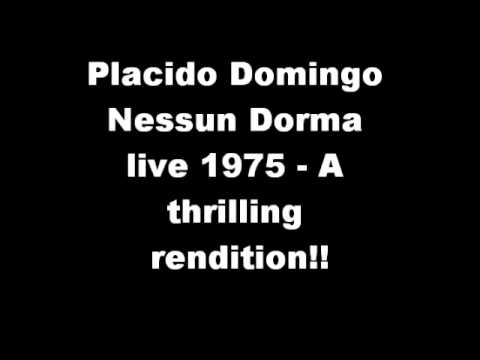 Placido Domingo sings Nessun Dorma (Turandot) live 1975 Verona