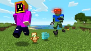 Minecraft Manhunt, But Every Time You Jump You Drop Items!