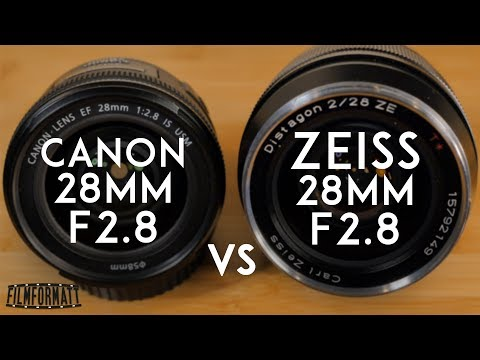 Zeiss Distagon 28mm ZE Review F2 vs. Canon EF 28mm F2.8