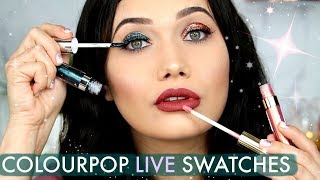 COLOURPOP COSMETICS LIVE SWATCHES | Trying Each Shade On!