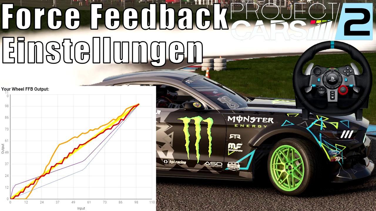 Project Cars 2 Lenkrad Force Feedback Einstellungen