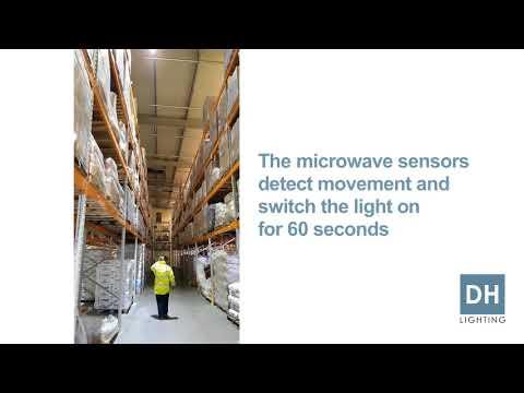 90% Energy saving using High Bay LED lights with Sensors