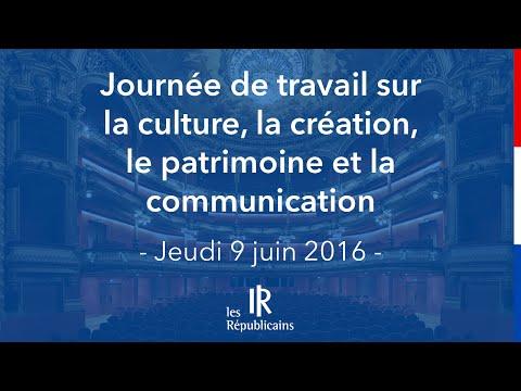 Journée de travail culture, création, patrimoine et création - 9 juin 2016