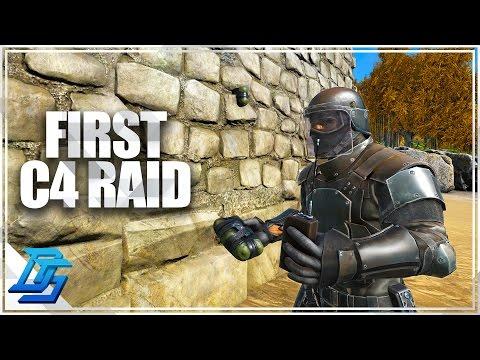 Ark:Survival Evolved -Season 11- Part 21 -  First C4 Raid / Prisoner !  (PvP-Thieves Island)