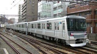 東京メトロ13000系13101F北千住行き 中目黒駅入線