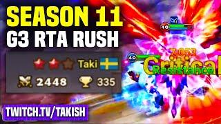 CAN WE GET G3? Season 11 RTA Rush!! - Takish Twitch Stream