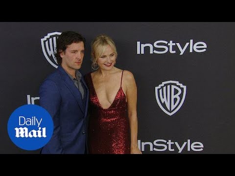 Malin Akerman dazzles with Jack Donnelly at Golden Globes party