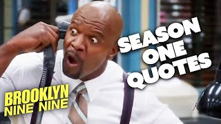 BEST QUOTES Season One | Brooklyn Nine-Nine | Comedy Bites