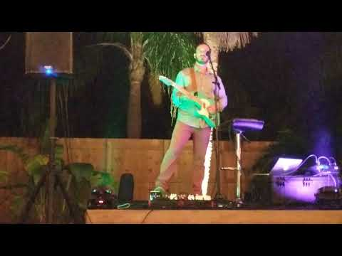Daniel Rocha. Warm-up at private wedding announcement party in Miami