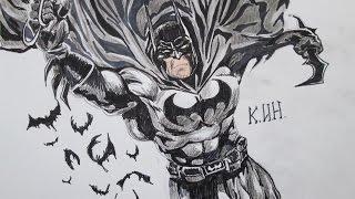 How to draw Batman The Dark Knight! как нарисовать Бэтмена!(channel Иван КИН https://www.youtube.com/channel/UCGXvX84DS7DajxO4aWabFpA заходите на мой сайт и смотрите новые видео и рисунки! visit my..., 2014-11-27T20:25:45.000Z)
