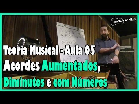 Curso de Teoria Musical - Aula 05: Acordes Diminutos, Aumentados e Com Números l Aula #56