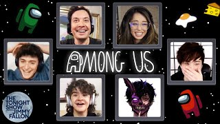 Among Us with Gaten Matarazzo, Noah Schnapp, Valkyrae, Sykkuno, Corpse Husband & More | Tonight Show