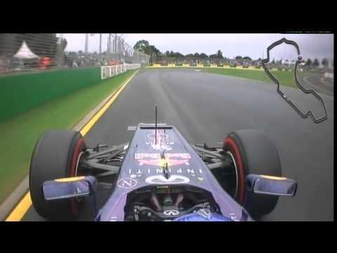 F1 2013 Australia GP - Qualifying - Red Bull Racing - Sebastian Vettel - Onboard Camera
