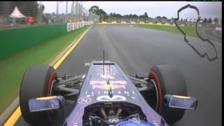 F1 2013 Australia GP - Qualifying - Red Bull Racing - Sebastian Vettel - Onboard Camera