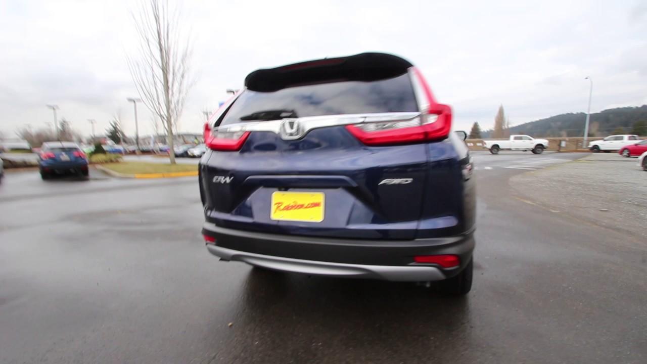 Honda Of Seattle >> 2017 Honda CR-V EX-L w/Navigation | Obsidian Blue Pearl | HH604930 | Seattle | Sumner | - YouTube