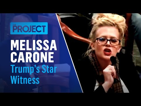 Trump's Star Witness Melissa Carone Gets Shushed By Her Own Lawyer Mid-Testimony | The Project